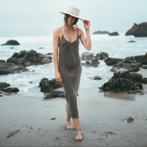 bc2b59750cd8 ozma Dresses | Silk Long Slipdress M Cupro Tobacco Taupe | Poshmark